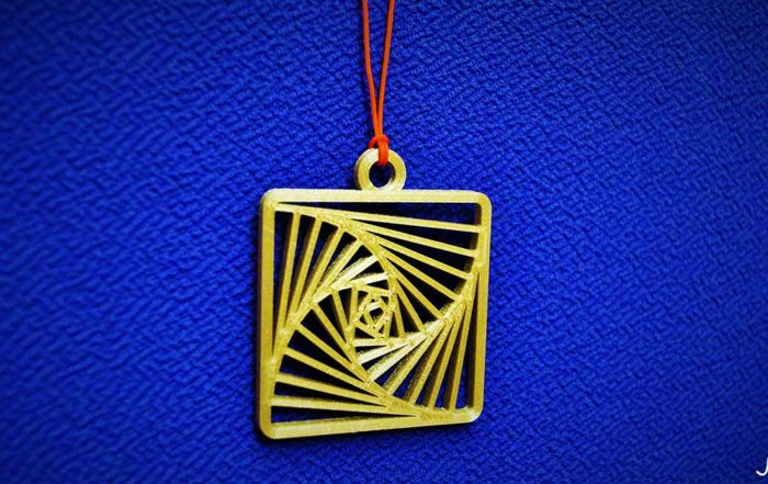 Martisoare3D - Pandantiv Minimalist Geometric