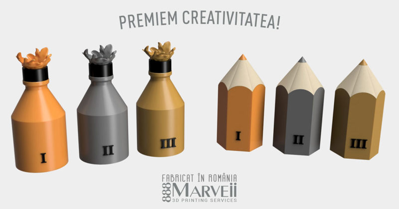 Trofee 3D Print-Concurs Copilaria Zbor spre Infinit