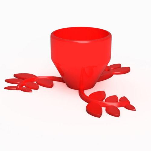 Vas Decorativ Happy Pot Roșu