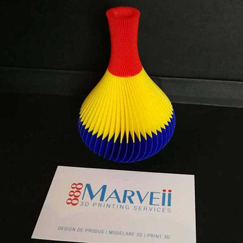 Vas DecorativTricolor Print 3D